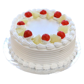 24 hrs delivery of half kg fresh pineapple cake delivery in kanpur